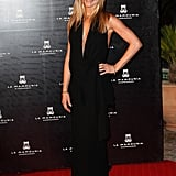 Jennifer celebrated the reopening of Morocco's Hotel La Mamounia working a sleek black sash-tie halter, complete with plunging neckline and arm-baring open back details, in 2009.