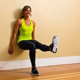 Wall Sits With Leg Extension