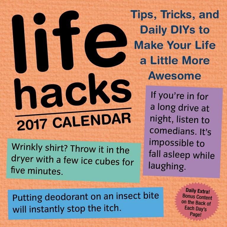 Life Hacks 2017 Day-to-Day Calendar ($15)