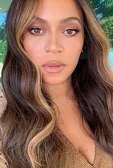 Beyonce's Hair Colour With Money Piece Highlights