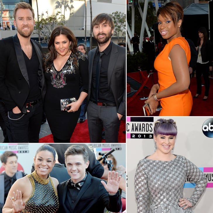 Stars Hit the AMAs Red Carpet