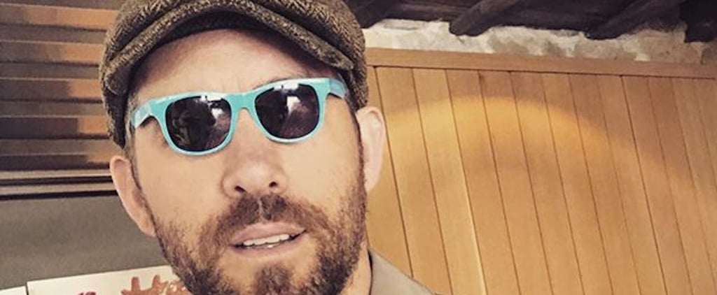 Ryan Reynolds Wearing Small Sunglasses Instagram Picture