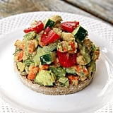 Smashed Avocado Chickpea Salad