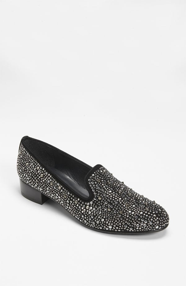 Stuart Weitzman's Slipbeads Flat ($258, originally $385) would look equally chic with wool trousers now and later into Spring with denim cutoffs.