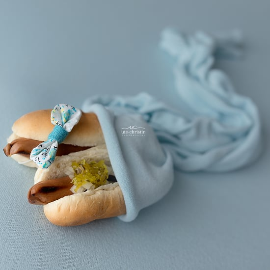 Baby Photographer Takes Newborn Photos of Food