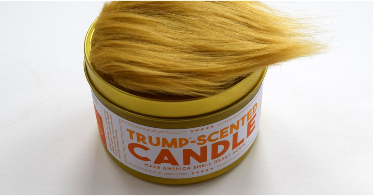 """This """"Trump-Scented Candle"""" Has a Toupee on Top — but That's Not Even the Funniest Part"""
