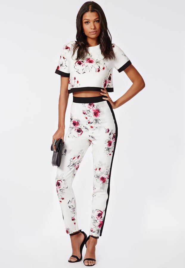Missguided Lila Floral Print Cigarette Trousers and Olivera Top