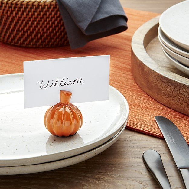 Pumpkin Place Card Holder ($4)