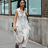 All eyes on your velcro sandals when you're in a simple breezy tank dress that blows in the wind.