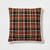 Woven Plaid Oversize Square Pillow