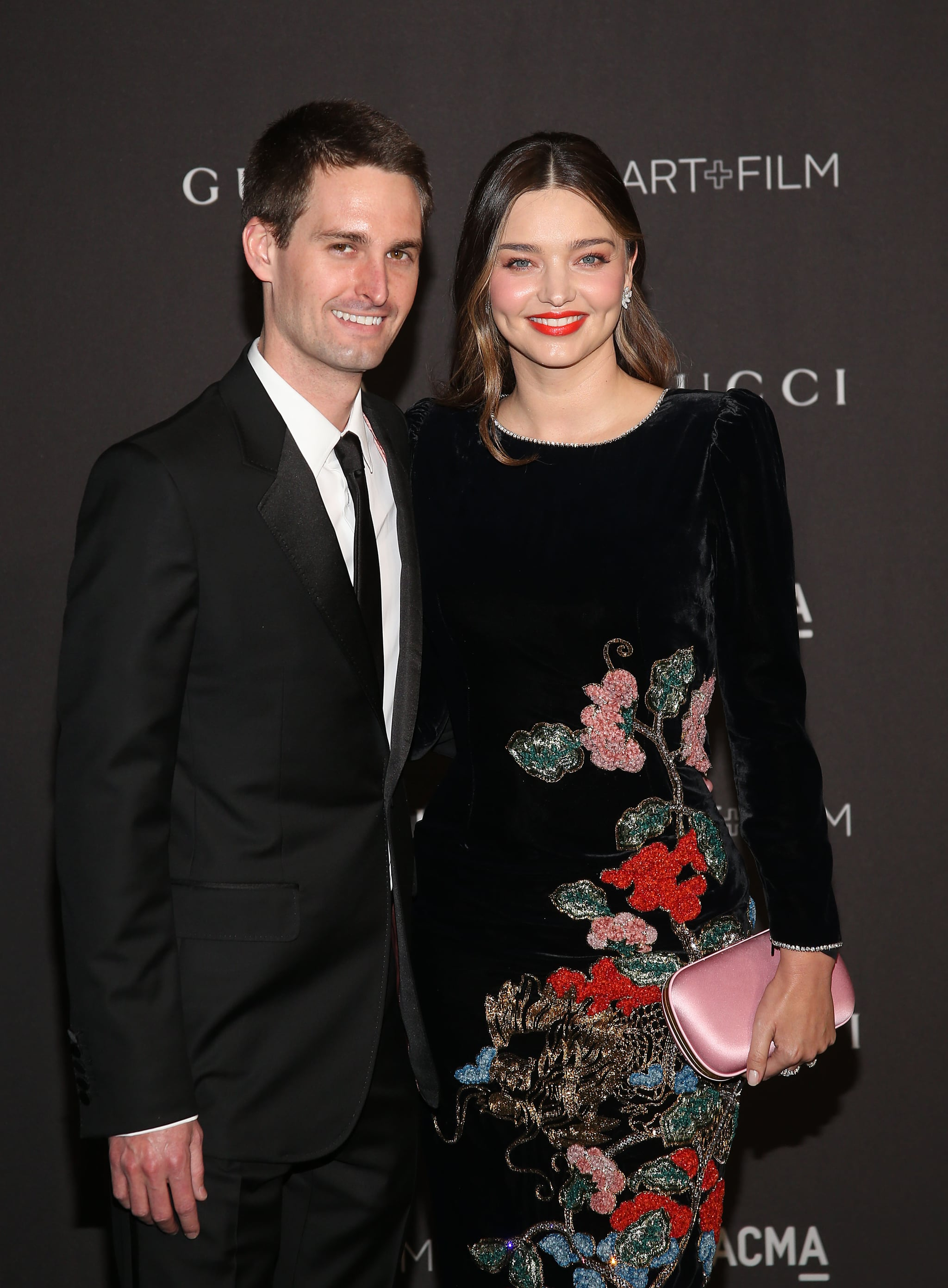 LOS ANGELES, CALIFORNIA - NOVEMBER 03: Miranda Kerr and Evan Spiegel attend the 2018 LACMA Art + Film Gala at LACMA on November 03, 2018 in Los Angeles, California. (Photo by Jesse Grant/Getty Images)