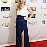 Amy Adams wore a two-toned Vionnet gown.