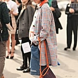 Susi Bubble made the rounds in Chanel denim and a mix of seasonal plaids and patterns.