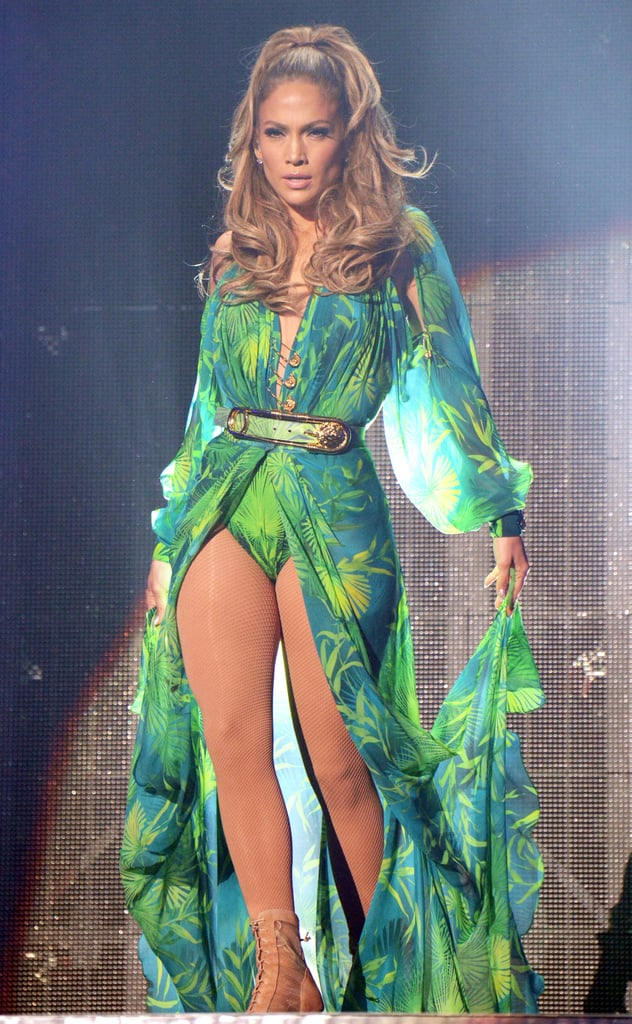 Jennifer Lopez recreated her iconic Versace look from the 2000 Grammys at her first-ever hometown show in the Bronx, NY on Wednesday.