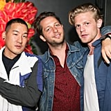 Derek Blasberg hung with the boys at the Stephen Gan & V Magazine party.