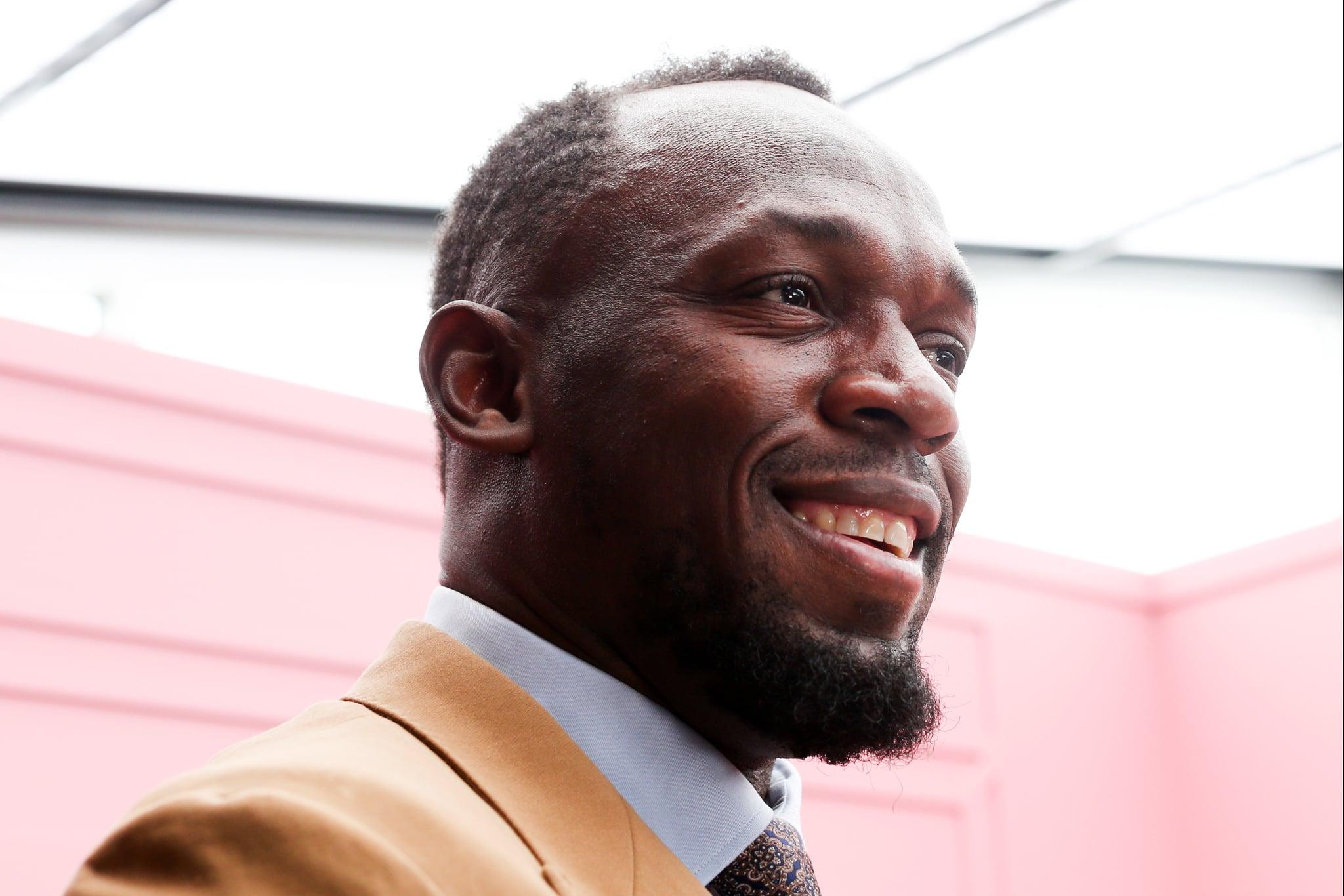 MELBOURNE, AUSTRALIA - NOVEMBER 07: Usain Bolt attends 2019 Oaks Cup Day at Flemington Racecourse on November 07, 2019 in Melbourne, Australia. (Photo by Asanka Ratnayake/Getty Images)