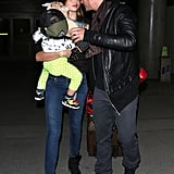 Miranda Kerr was reunited with her husband Orlando Bloom when she and their son Flynn touched down in LA during the week.