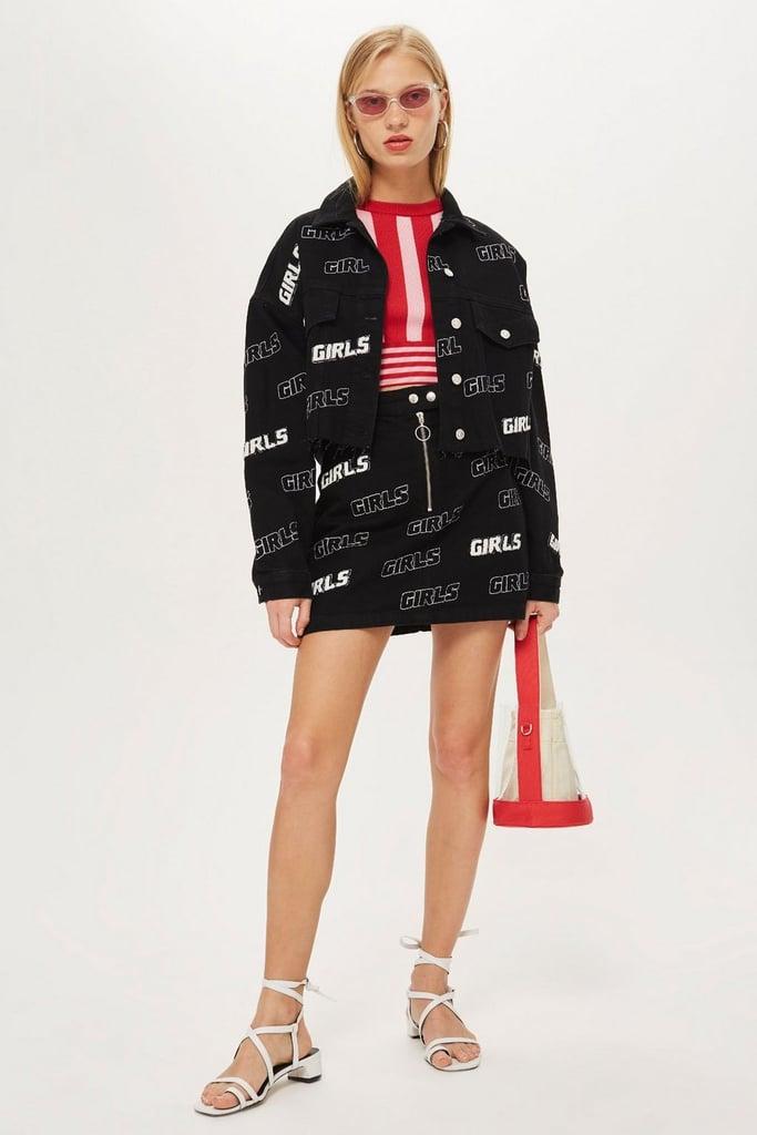 Topshop Girls Denim A Line Skirt Ariana Grande Louis Vuitton Skirt