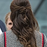 A Half-Up Low Bun