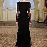 Black is famous for its ability to make a woman look slim. A floor-length, all-black Jason Wu gown? Svelte for days! Amazing sleeve details, too.