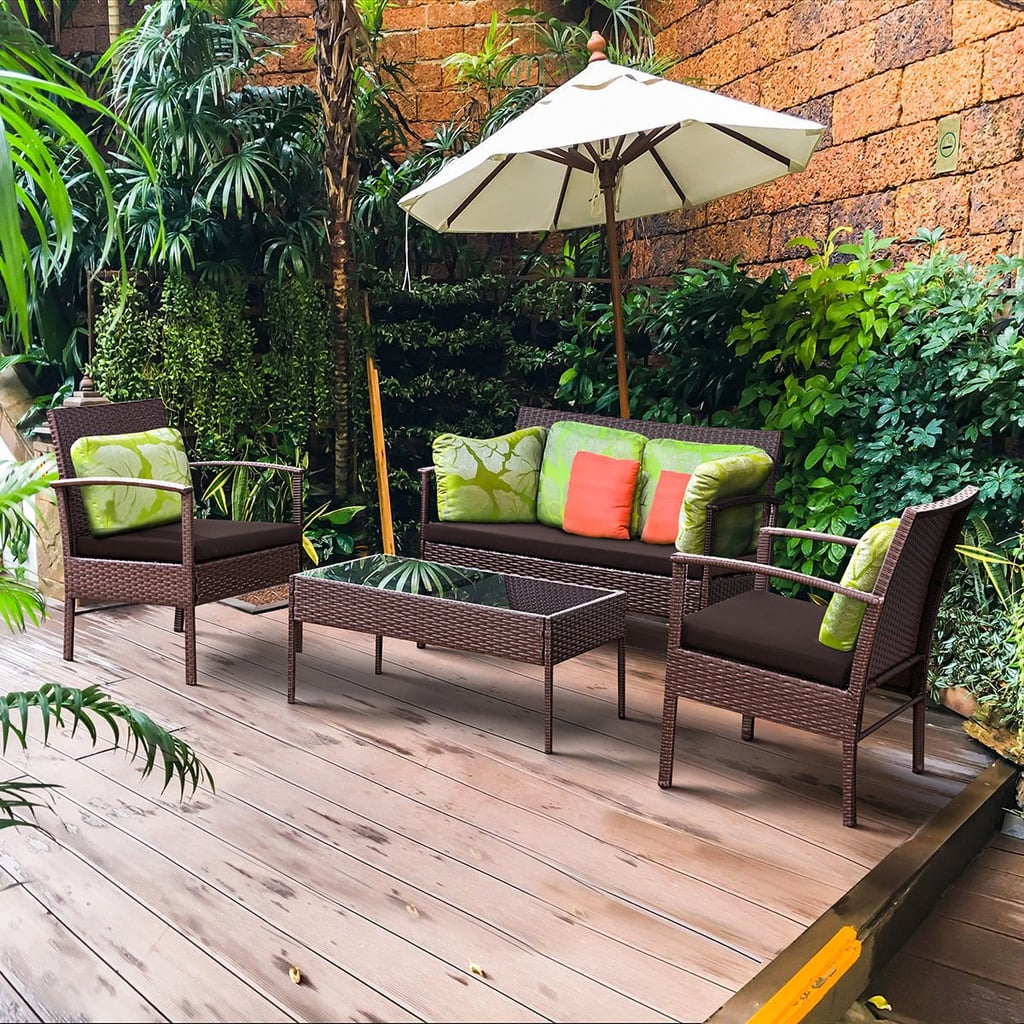 Costway 4 Pcs. Patio Rattan Wicker Furniture Set | Best ...
