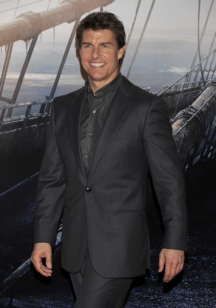 Tom Cruise wore an interesting suit.