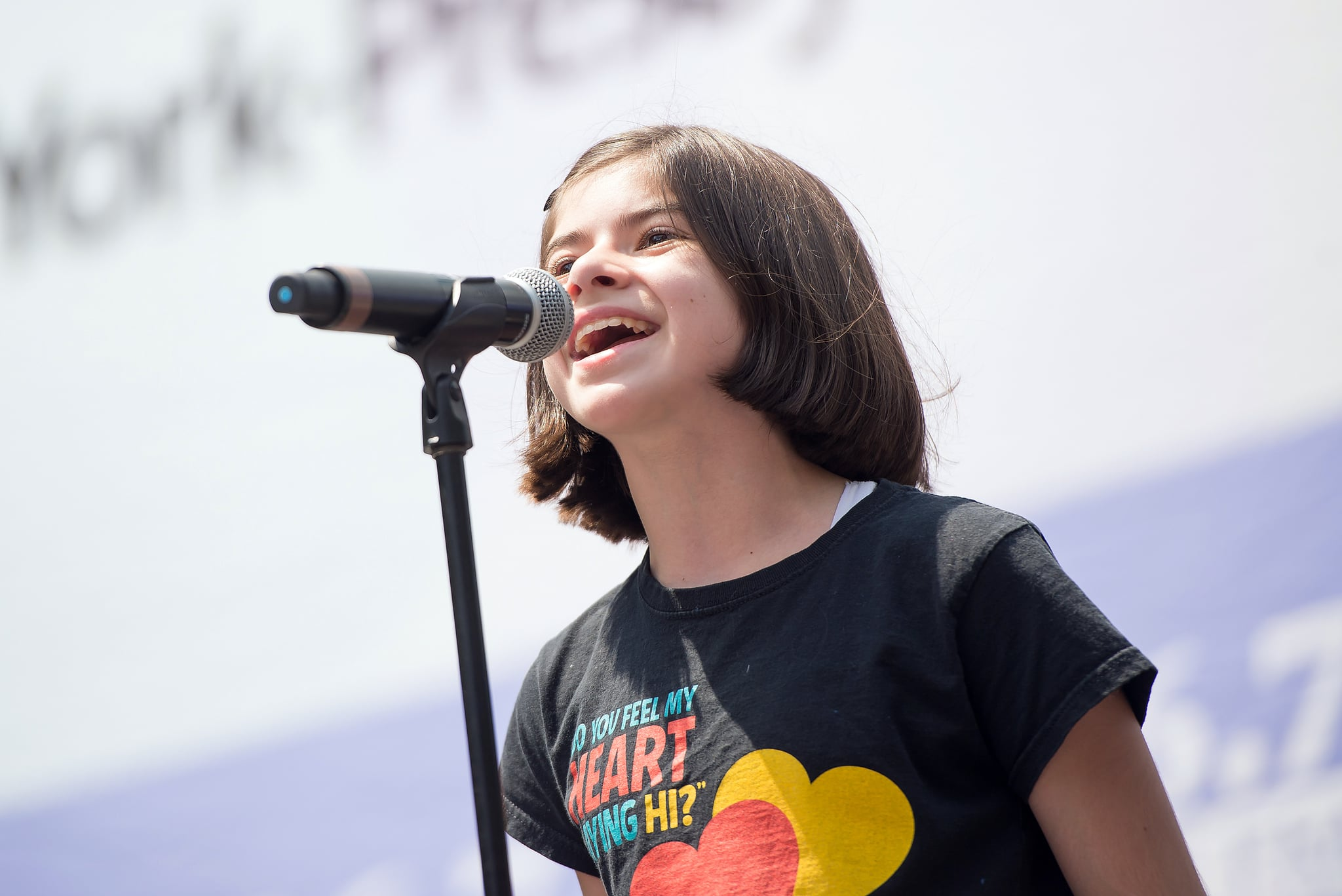 NEW YORK, NY - JULY 28:  Gabriella Pizzolo from the cast of 'Fun Home' performs during 106.7 LITE FM's Broadway in Bryant Park on July 28, 2016 in New York City.  (Photo by Mike Pont/WireImage)