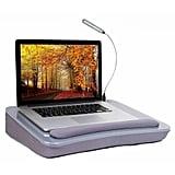 "Silver Kelise Sofia Sam 19.3"" Lap Desk With USB Light"