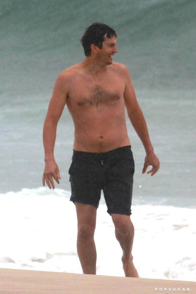 Ashton Kutcher Goes Shirtless in Rio and Maybe Reunites With Ex-Wife Demi Moore