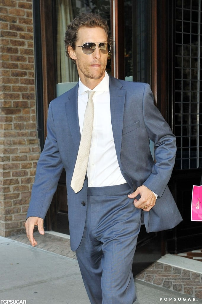 Matthew McConaughey looked dapper as he walked out of his NYC hotel.