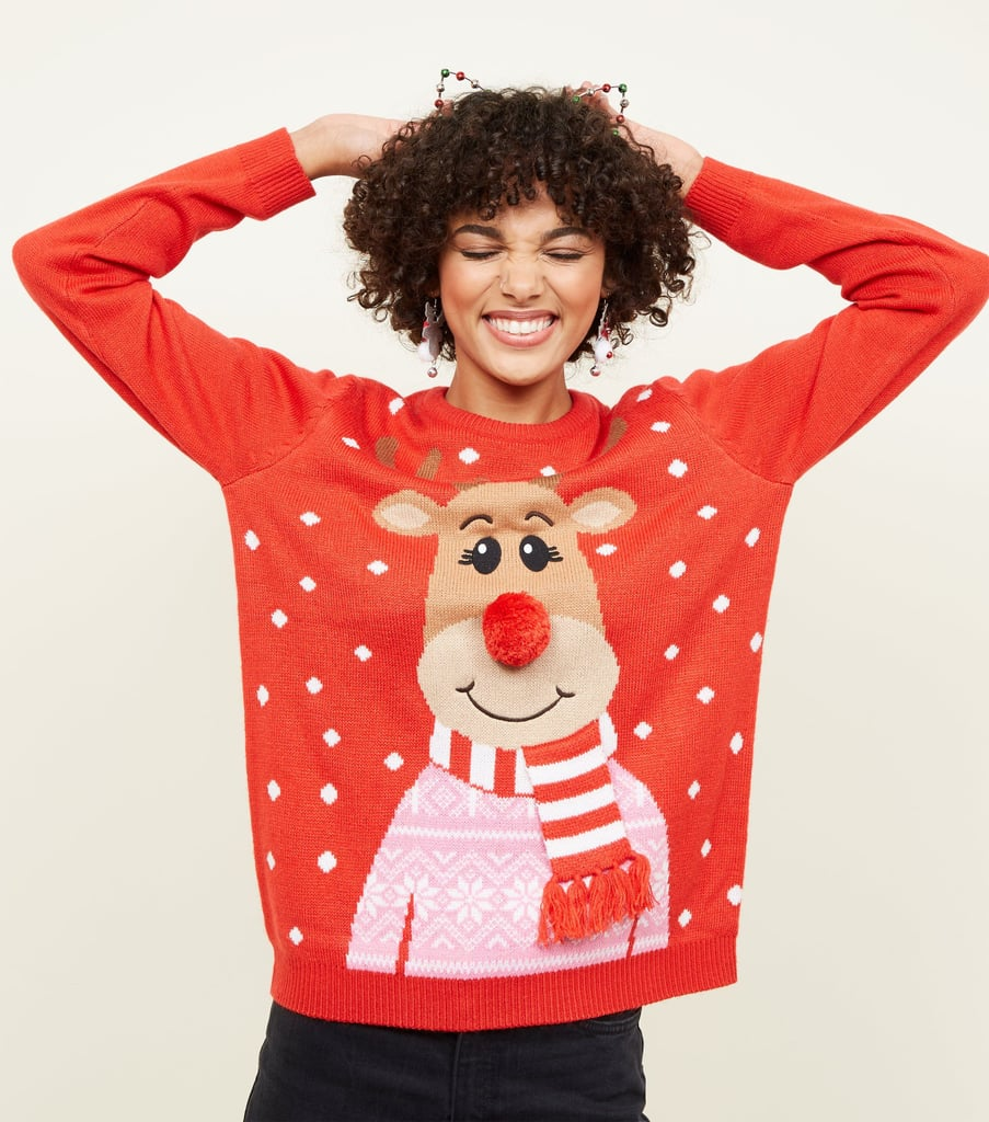 New Look 3D Reindeer Christmas Jumper