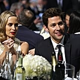 Emily Blunt and John Krasinski enjoyed the show together.