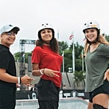 From left to right, skateboarders Alana Smith, Spencer Breaux, and Grace Marhoefer.