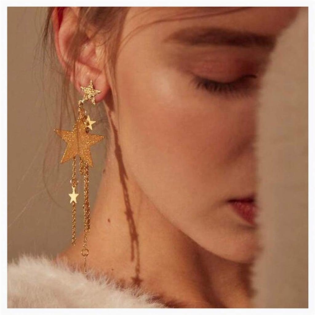 CanB Dangle Star Earrings