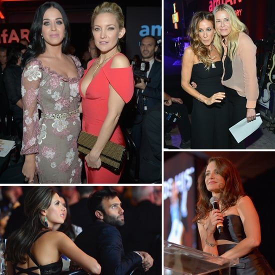 Katy Perry, Chelsea Handler, Sarah Jessica Parker, Kristin Davis And More Party At amfAR Inspiration Gala