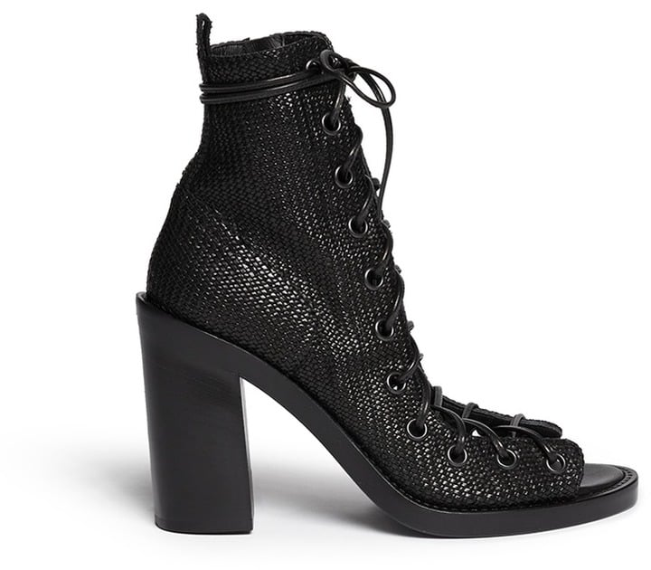 Ann Demeulemeester Basketweave Leather Lace-Ups ($1,470)
