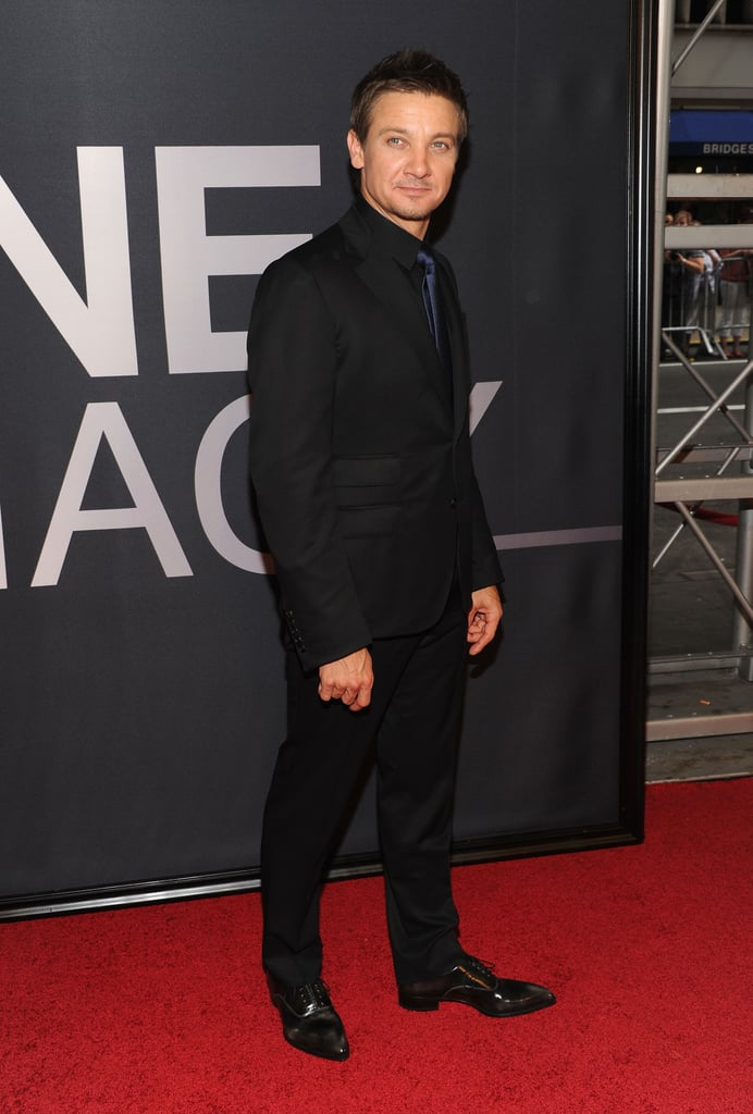 Jeremy Renner walked the red carpet at The Bourne Legacy's world premiere in NYC.