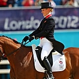 Zara Philips competed on Britain's equestrian team on day two.