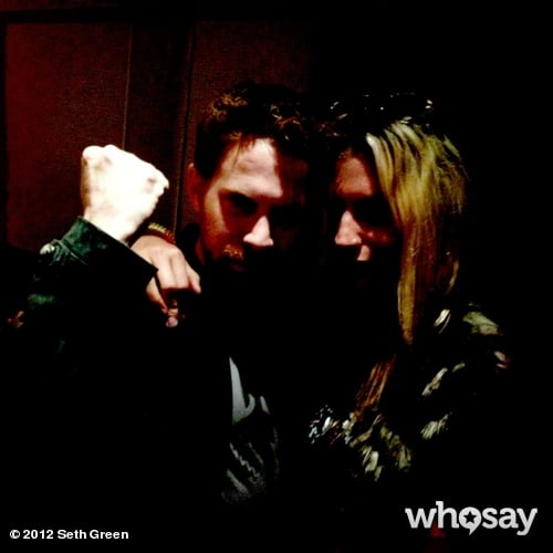 Seth Green and Ke$ha bonded on the set of his show Robot Chicken.  Source: Seth Green on WhoSay