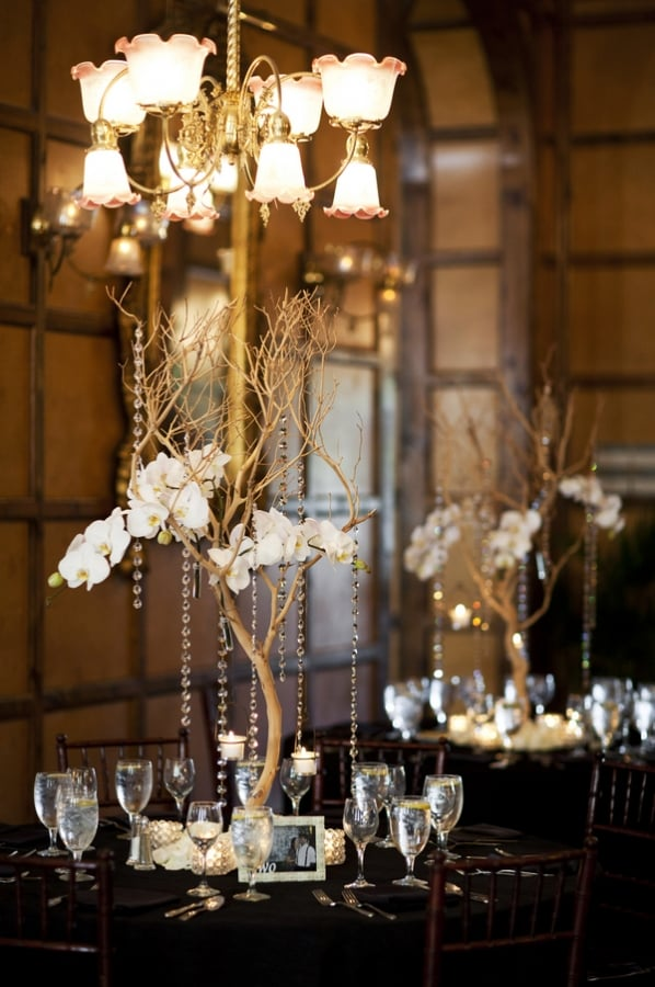 Elegant crystal centerpieces s wedding inspiration