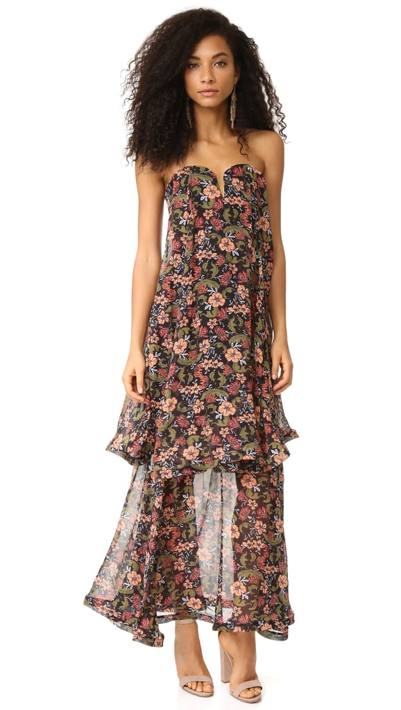 Nicholas '70s Floral Strapless Bow Dress ($750)