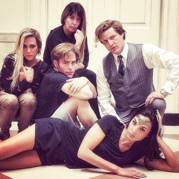 Wonder Woman 1984 Cast as Breakfast Club Photo | POPSUGAR Entertainment