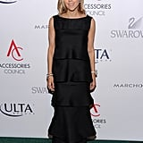 Tory Burch was ladylike in her tiered gown at Cipriani.