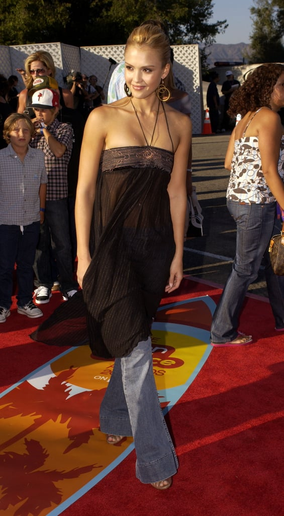 She styled a breezy halter over flares at the 2004 Teen Choice Awards.