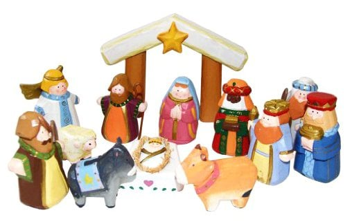 Kurt Adler Hand-Carved Child's First Nativity Set