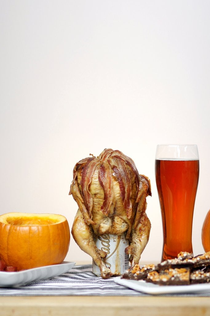 Bacon-y Beer-Can Chicken
