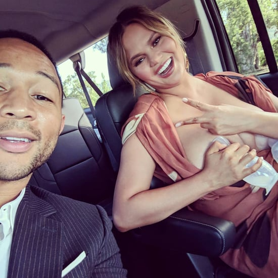 Chrissy Teigen Trying to Save Spilled Breast Milk