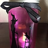Pink Halloween Mason Jar