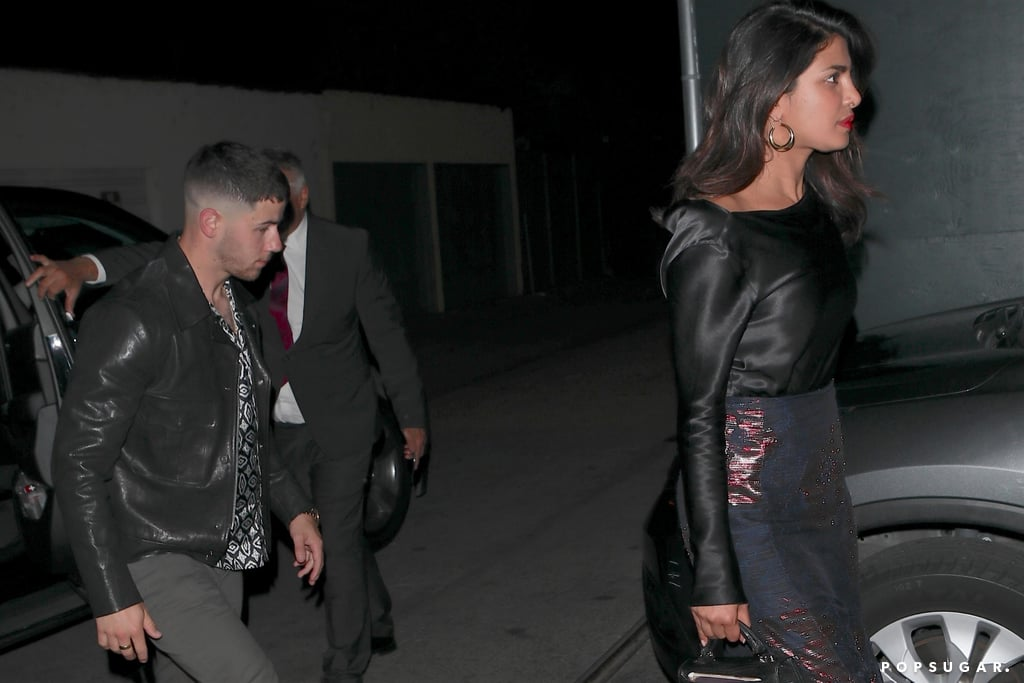 "Nick Jonas and Priyanka Chopra seemed to make things official as they stepped out for a date night in LA on Thursday. The new couple, who first made headlines when they attended the Met Gala together in 2017, steered clear of any PDA, but Nick was ever the gentleman as he went to the other side of the car, held the door open for his new girlfriend, and sweetly helped her out. The singer and the Quantico actress then made their way into Craig's restaurant in West Hollywood.      Related:                                                                                                           Before Dating Priyanka Chopra, Nick Jonas Romanced These 9 Celebrities               News of Nick and Priyanka's blossoming relationship was confirmed earlier this week; according to Us Weekly, ""It's a good match and they are both interested in each other."" They spent Memorial Day weekend together and were also spotted at the live Beauty and the Beast concert in Hollywood and an LA Dodgers game. Keep reading to see photos from Nick and Priyanka's date night, then get the scoop on more new celebrity couples that have popped up this year."