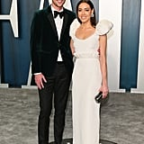 Aubrey Plaza and Jeff Baena at the Vanity Fair Oscars Party